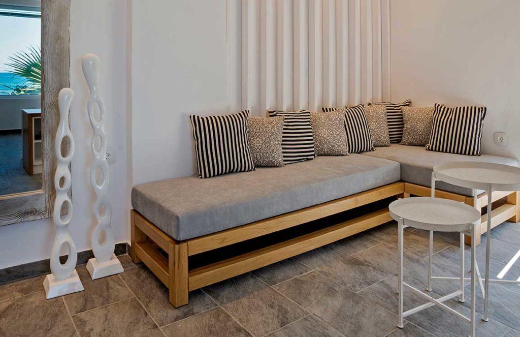 Honeymoon Suite Interior view Sitting room - Porto kalamaki Hotel, Chania Crete - Greece
